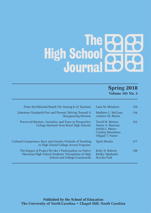 The High School Journal, spring 2018