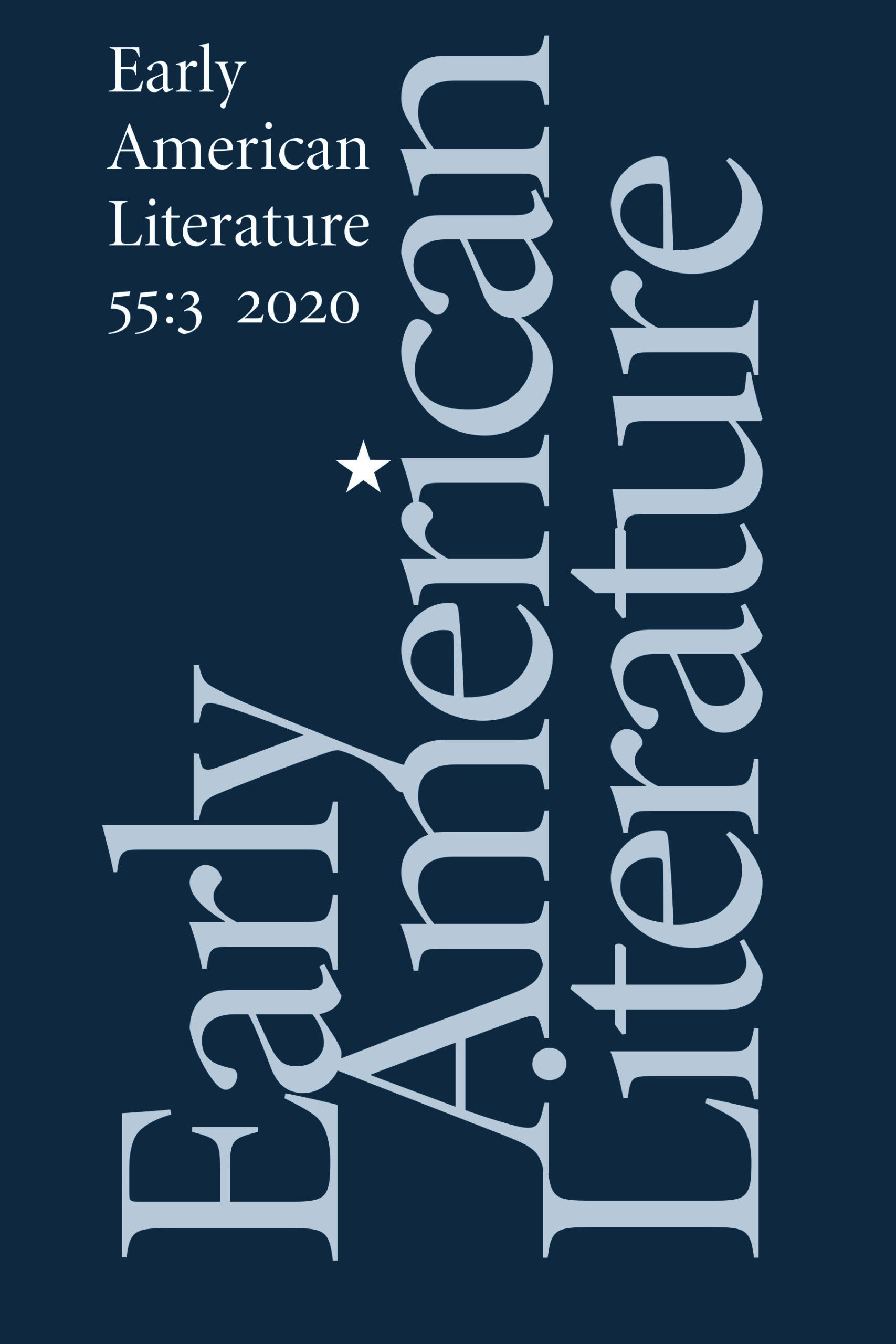 American Literary History: Volume 3 - No. 4