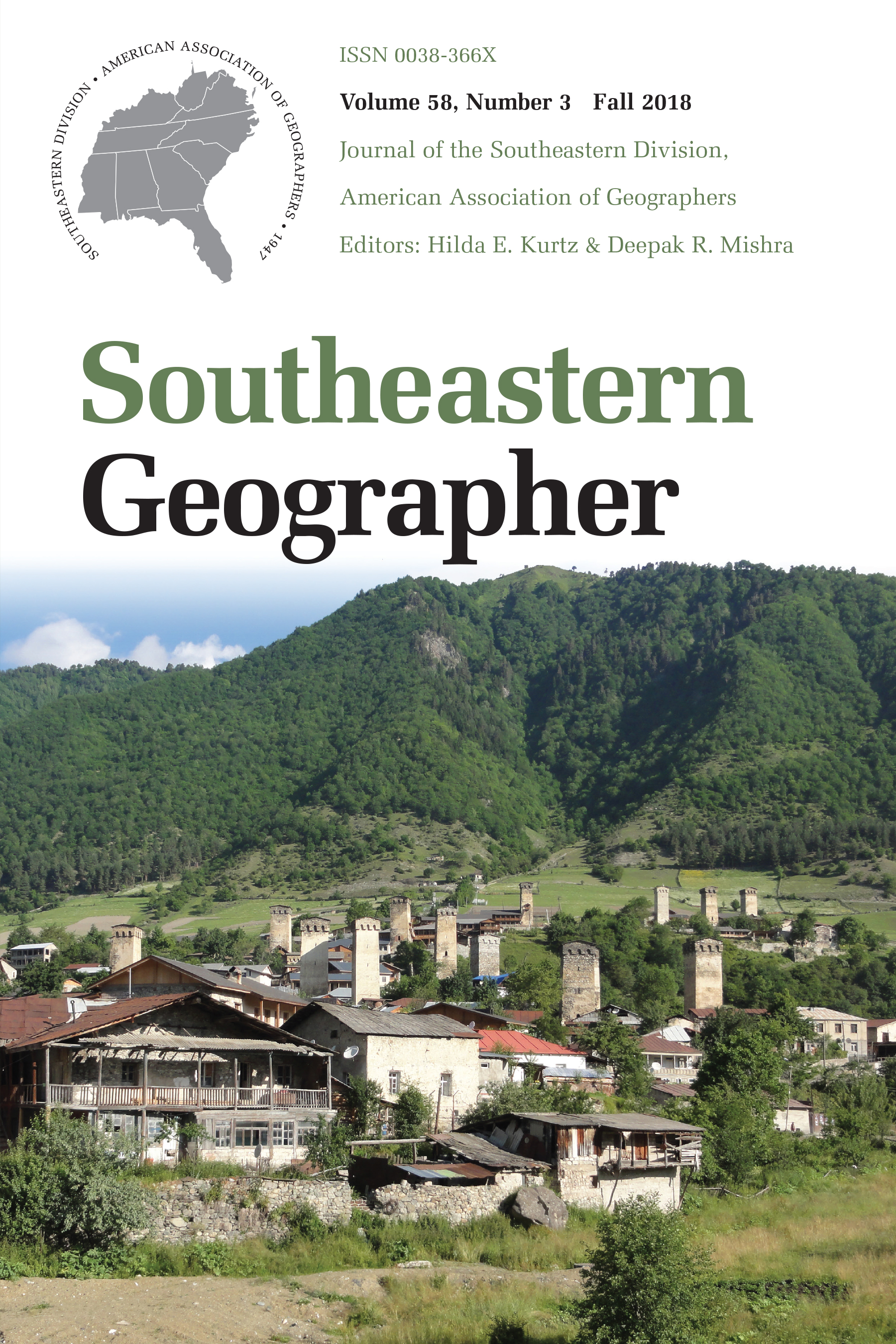 Southeastern Geographer, vol. 58 issue 3