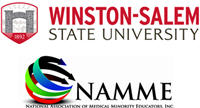 logos for Winston-Salem State University and the National Association of Medical Minority Educators, Inc.